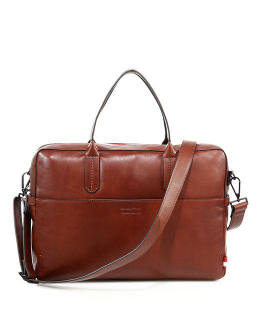 Uri Minkoff - Brown Fulton Briefcase for Men - Lyst