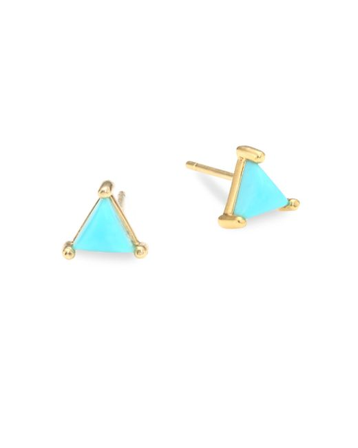 Jennifer Zeuner - Multicolor Koi Turquoise Stud Earrings - Lyst