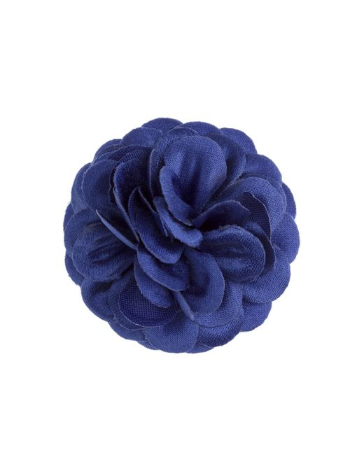 Hook + Albert | Blue Solid Glitter Lapel Flower | Lyst