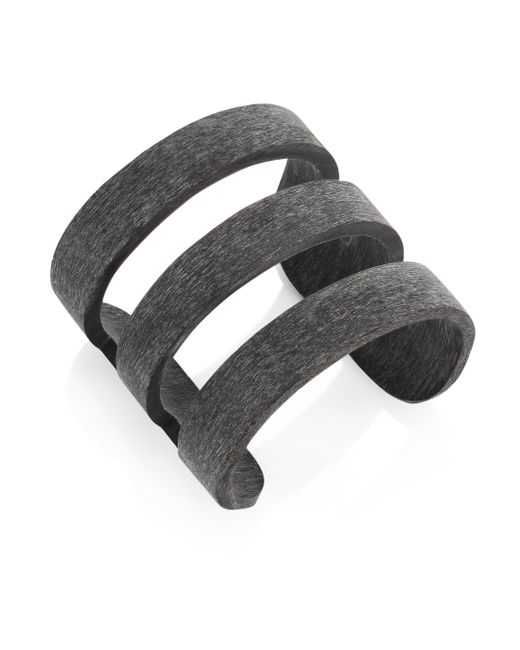 Nest | Black Horn Cage Cuff Bracelet | Lyst
