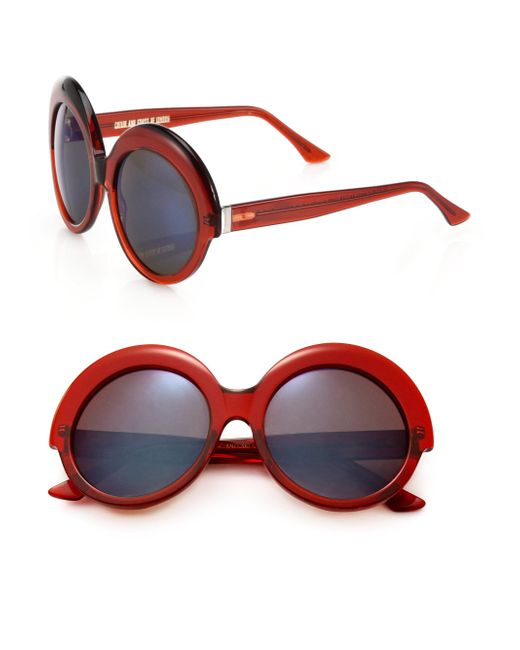 Cutler & Gross - Orange 56mm Round Sunglasses - Lyst