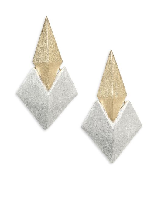 Stephanie Kantis | Metallic Battle Two-tone Earrings | Lyst