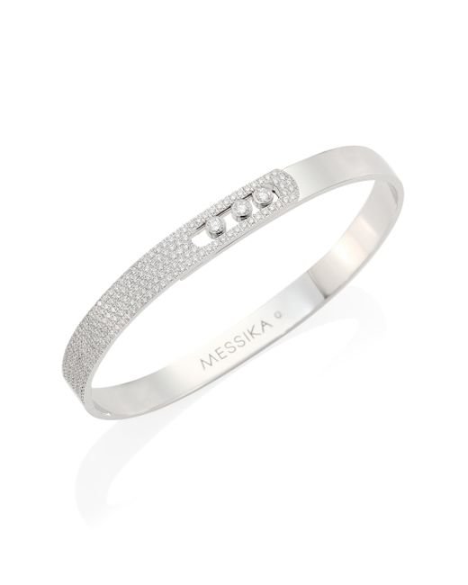 Messika - Metallic Move Noa Medium Diamond & 18k White Gold Bangle - Lyst