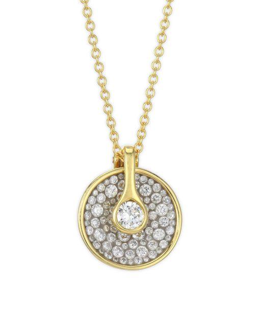 Plevé - Metallic Opus Ice Circle Diamond & 18k Gold Pendant Necklace - Lyst
