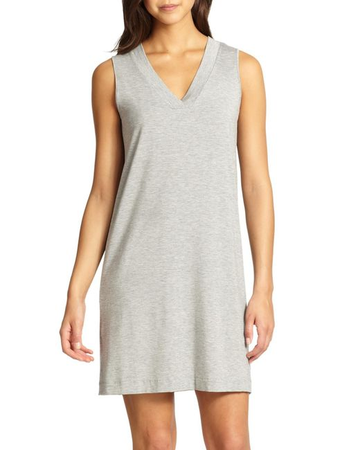 Hanro - Gray Champagne Tank Gown - Lyst