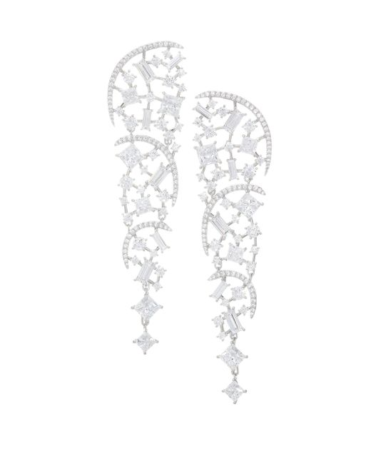 Adriana Orsini - Metallic Azure Crystal Clear Shard Earrings - Lyst