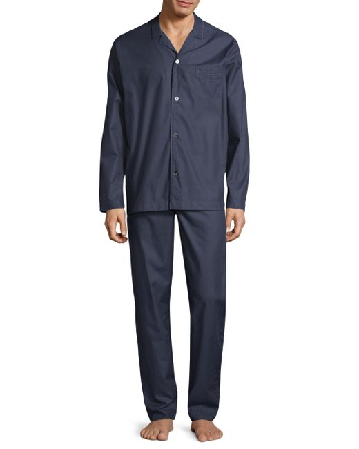 Hanro - Blue Dot-print Cotton Pajamas for Men - Lyst