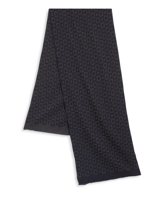 Saks Fifth Avenue | Blue Square Printed Wool Blend Scarf for Men | Lyst