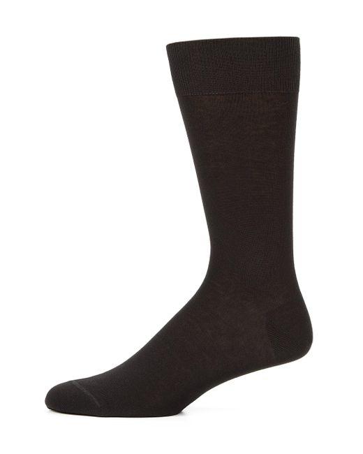 Saks Fifth Avenue - Black Cotton-blend Dress Socks for Men - Lyst