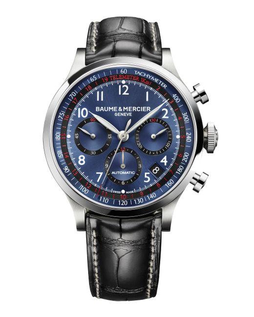 Baume & Mercier - Metallic Capeland 10065 Stainless Steel & Alligator Strap Chronograph Watch for Men - Lyst