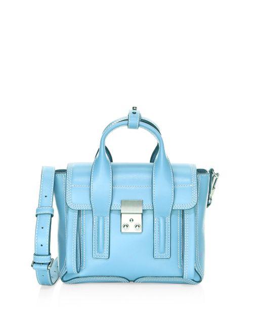 3.1 Phillip Lim - Blue Mini Pashli Leather Satchel - Lyst