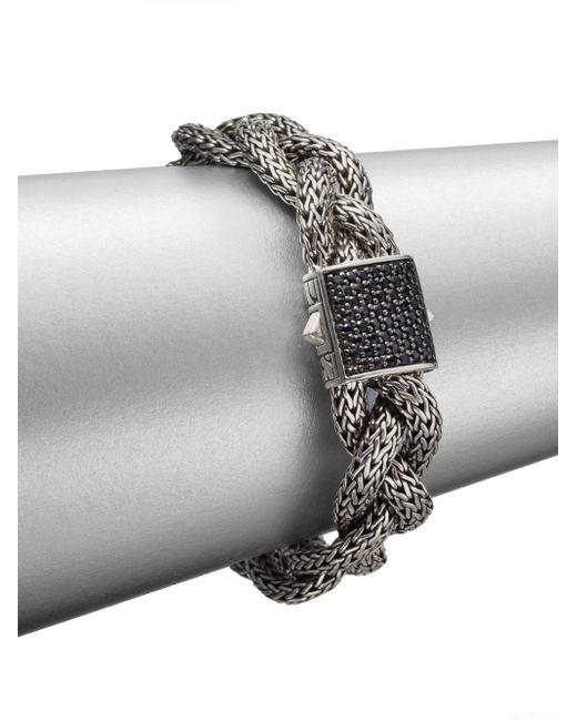 John Hardy - Gray Classic Chain Black Sapphire & Sterling Silver Medium Braided Bracelet - Lyst