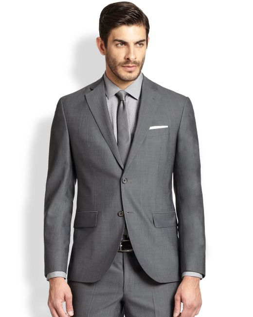 Saks Fifth Avenue | Gray Modern-fit Wool Sportcoat for Men | Lyst