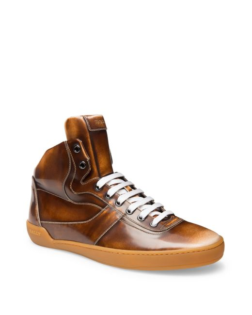 Bally   Brown Lace-up Sneakers for Men   Lyst