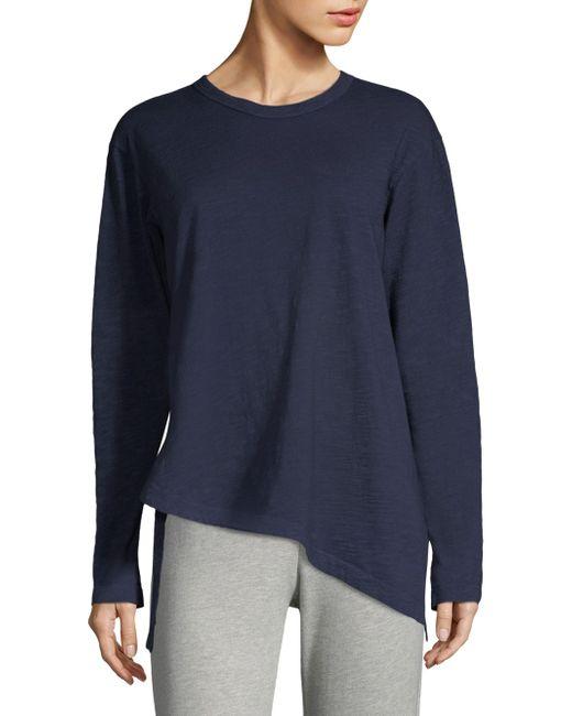 Wilt - Blue Asymmetric Slub Knit Tee - Lyst