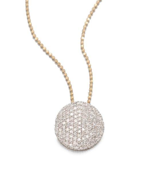 Phillips House | Metallic 14k Yellow Gold & Diamond Infinity Necklace | Lyst