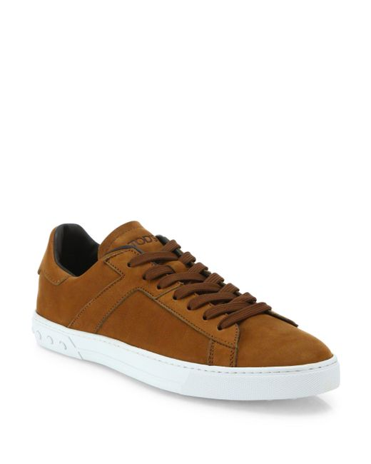 Tod's | Brown New Cassetta Denim Leather Sneakers for Men | Lyst