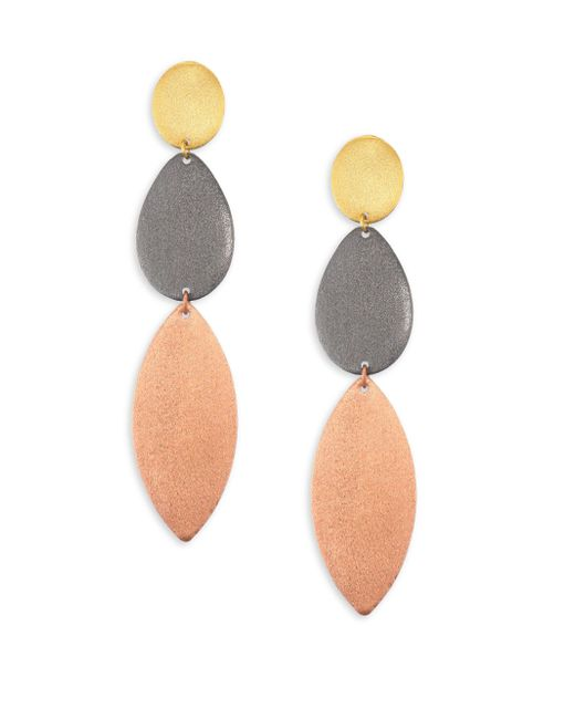 Stephanie Kantis | Gray Enchantment Tri-tone Triple-drop Earrings | Lyst