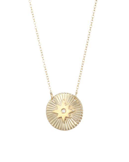 Jennifer Zeuner - Metallic Mini Iris Gia Diamond Necklace - Lyst