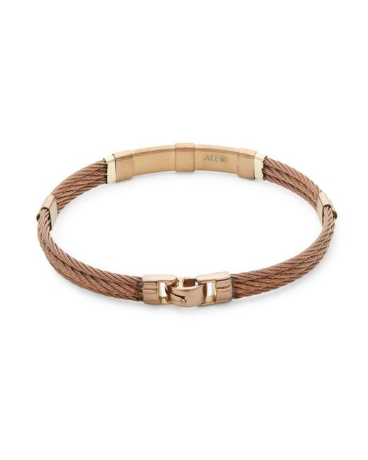 Alor - Brown 18k Yellow Gold & Bronze Cable Bracelet - Lyst