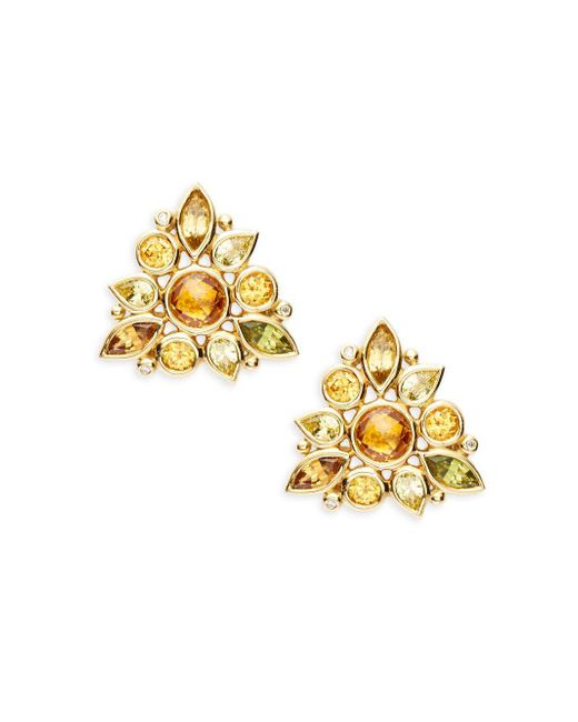 Temple St. Clair - High 18k Yellow Gold Cluster Stud Earrings - Lyst