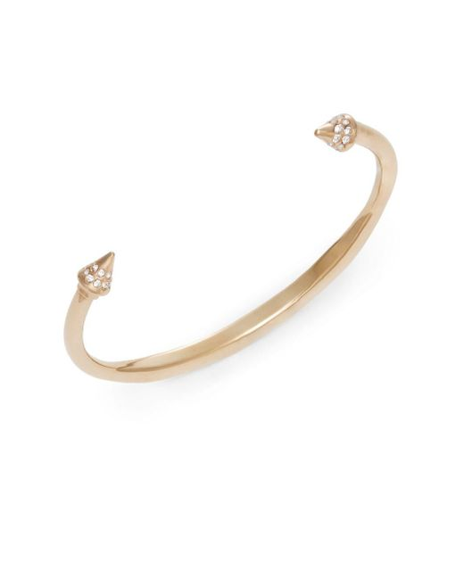 Vita Fede | Pink Christiana Crystal Spike Bangle Bracelet/rose Goldtone | Lyst