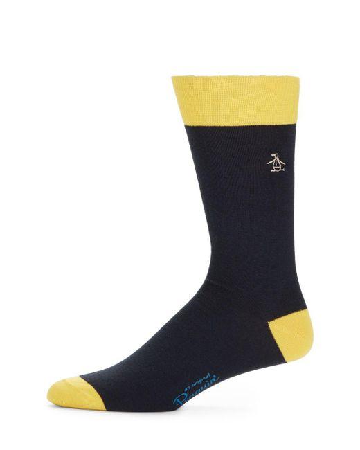 Original Penguin | Blue Colorblock Pima Cotton-blend Socks for Men | Lyst