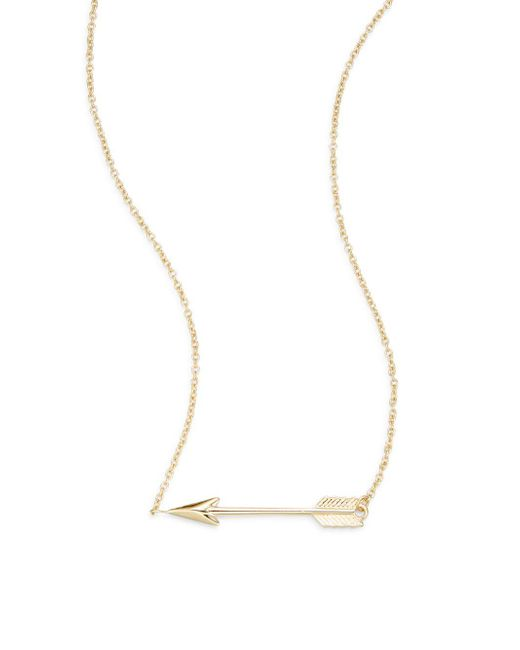 Saks Fifth Avenue   Metallic 14k Yellow Gold Arrow Pendant Necklace   Lyst