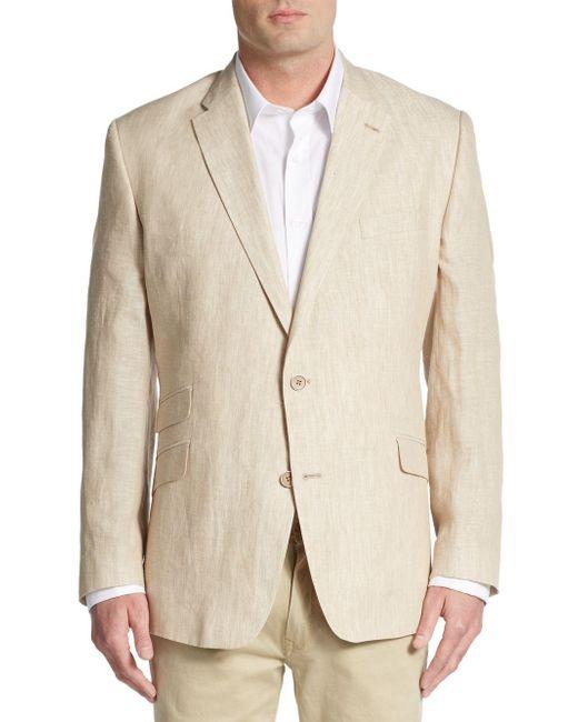 Tommy Hilfiger | Natural Regular-fit Linen Blazer for Men | Lyst