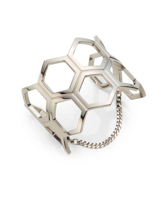 Vita Fede | Metallic Geo Mille Cutout Bracelet/silvertone | Lyst