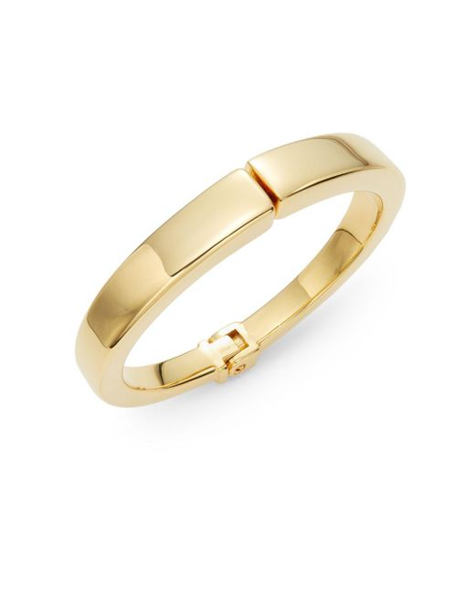 Vita Fede | Metallic Yasue Hinged Bangle Bracelet/goldtone | Lyst
