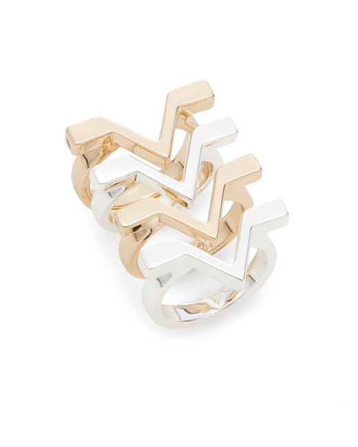 CC SKYE | Metallic Cult Status Ring Set | Lyst