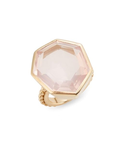 Stephen Dweck | Metallic Rose Quartz & Bronze Faceted Ring | Lyst