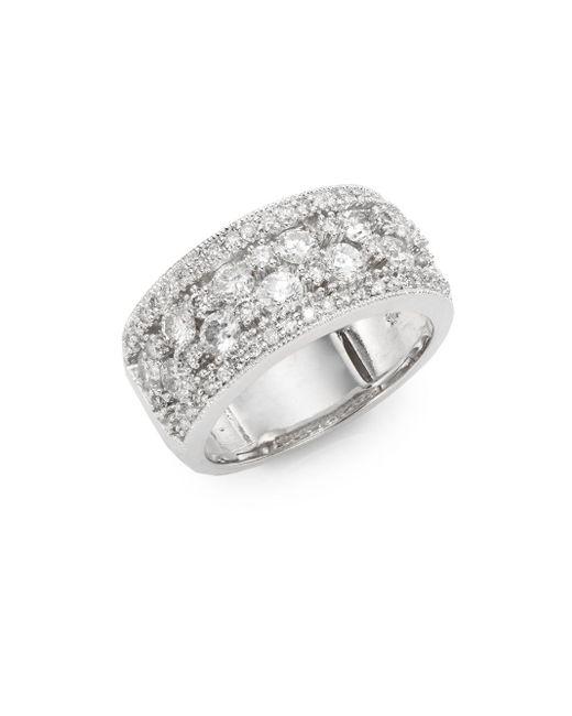 Effy   Metallic 1.55 Tcw Diamond & 14k White Gold Ring   Lyst