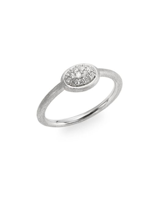 Jude Frances | Metallic Soho Diamond & Sterling Silver Oval Ring | Lyst