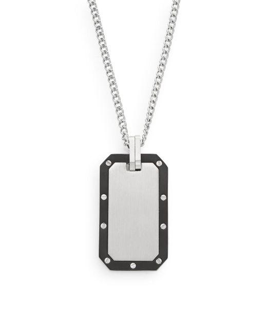 Saks Fifth Avenue | Metallic Titanium & Stainless Steel Pendant Necklace | Lyst