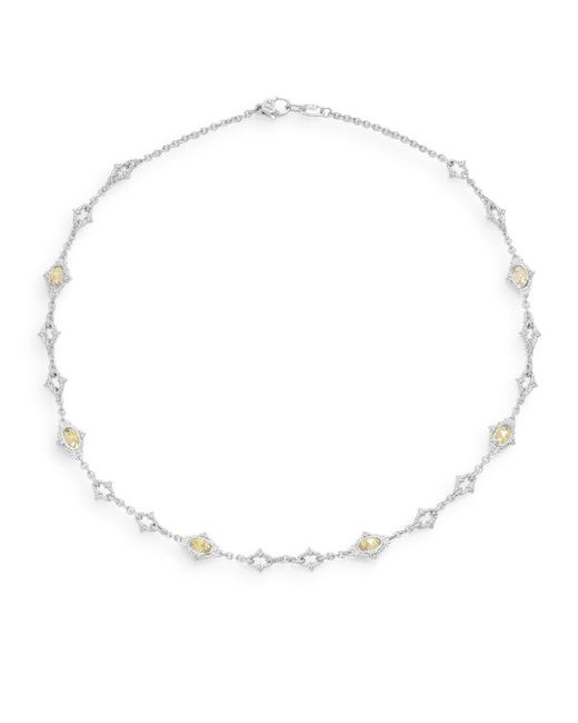 Judith Ripka | Metallic Calypso Canary Crystal & Sterling Silver Necklace | Lyst