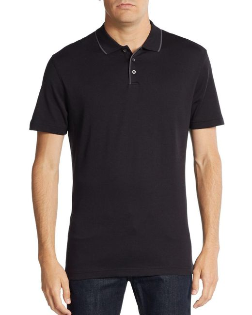 Robert Barakett | Black Georgia Cotton Polo Shirt for Men | Lyst