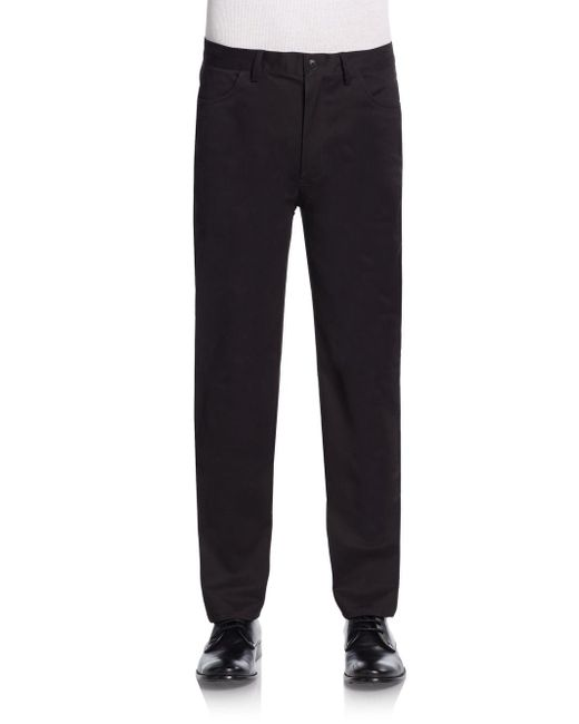 Vince Camuto | Black Slim-fit Core Chino Pants for Men | Lyst