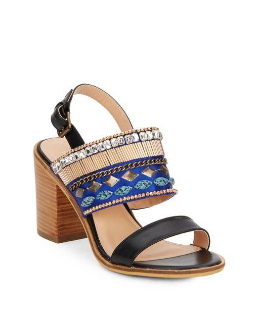 Catherine Malandrino | Black Yancy Embellished Sandals | Lyst