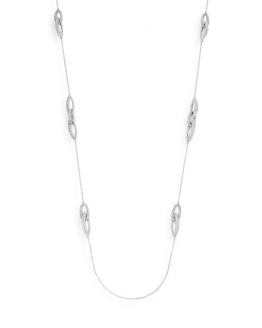 Adriana Orsini | Metallic Pavà Link Necklace | Lyst