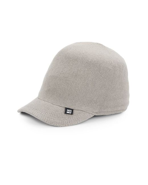 block headwear cotton knit baseball hat in gray for