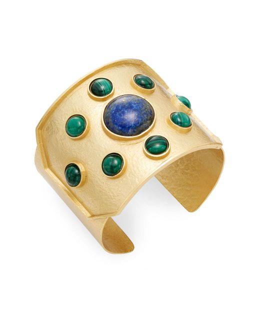 Stephanie Kantis | Green Rejoice Malachite & Blue Lapis Cuff Bracelet | Lyst
