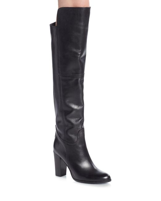 Saks Fifth Avenue   Black Leather Over-the-knee Boots   Lyst