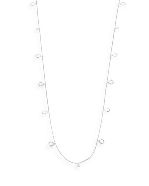 Judith Jack | Metallic Marcasite, White Stone & Sterling Silver Geometric Link Necklace | Lyst