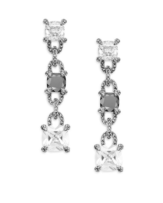Judith Jack | Metallic Hematite & Sterling Silver Link Drop Earrings | Lyst