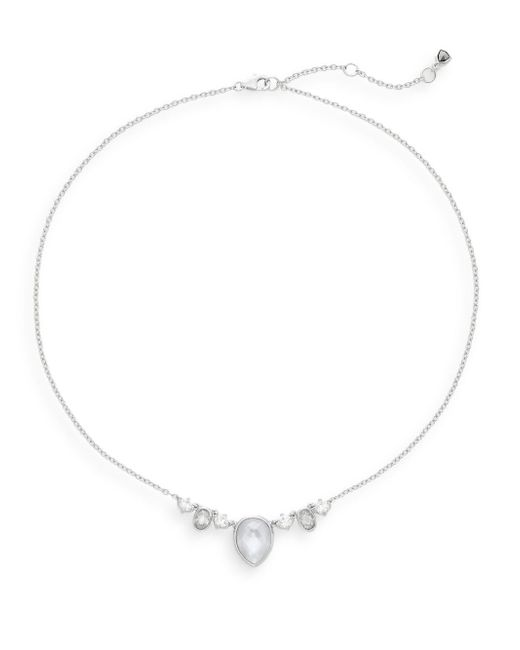 Judith Jack | Metallic Marcasite Mother-of-pearl, White Stone & Sterling Silver Necklace | Lyst