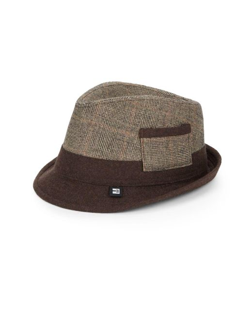 Block Headwear | Brown Plaid Two-tone Hat for Men | Lyst