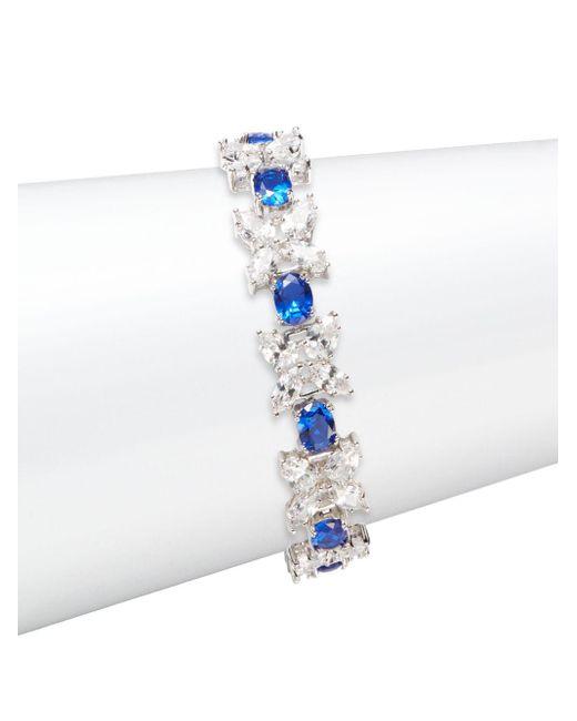 CZ by Kenneth Jay Lane | Blue Butterfly Zoo Multi-stone Bracelet/silvertone | Lyst