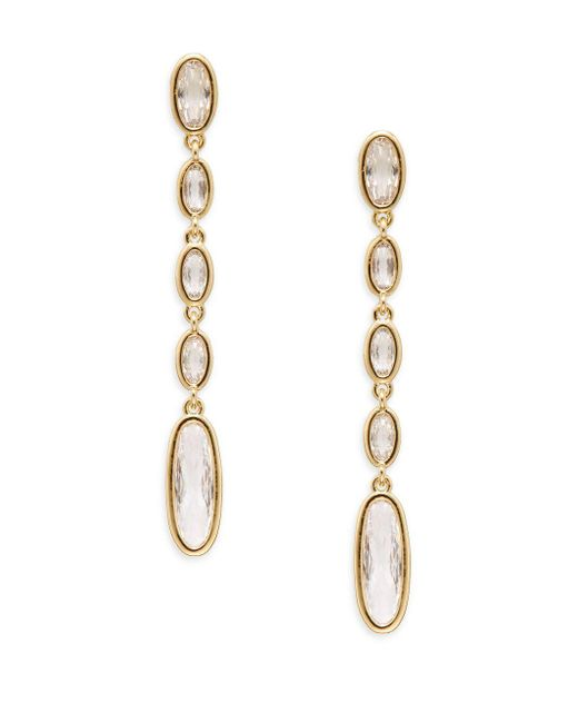 Adriana Orsini | Metallic Oval Dangle Earrings | Lyst